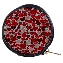 Sparkling Hearts, Red Mini Makeup Bags