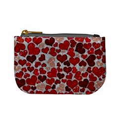Sparkling Hearts, Red Mini Coin Purses