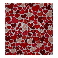 Sparkling Hearts, Red Shower Curtain 66  x 72  (Large)