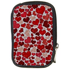 Sparkling Hearts, Red Compact Camera Cases