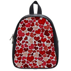 Sparkling Hearts, Red School Bags (Small)