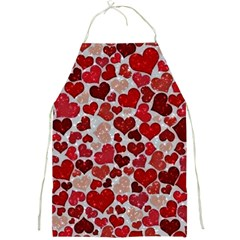 Sparkling Hearts, Red Full Print Aprons