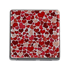 Sparkling Hearts, Red Memory Card Reader (Square)