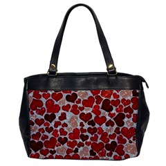 Sparkling Hearts, Red Office Handbags