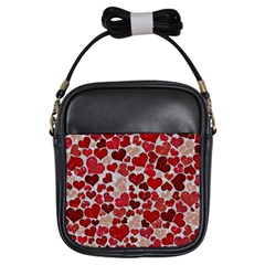 Sparkling Hearts, Red Girls Sling Bags