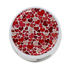 Sparkling Hearts, Red 4-Port USB Hub (Two Sides)