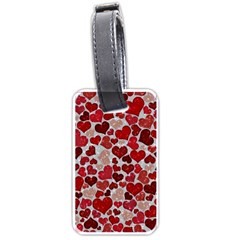 Sparkling Hearts, Red Luggage Tags (Two Sides)