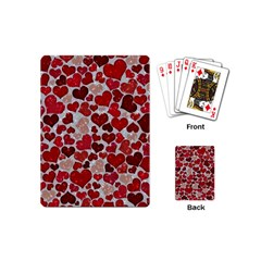 Sparkling Hearts, Red Playing Cards (Mini)