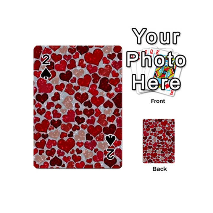 Sparkling Hearts, Red Playing Cards 54 (Mini)