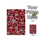 Sparkling Hearts, Red Playing Cards 54 (Mini)  Front - Club6