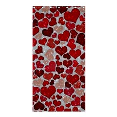 Sparkling Hearts, Red Shower Curtain 36  x 72  (Stall)