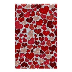 Sparkling Hearts, Red Shower Curtain 48  x 72  (Small)