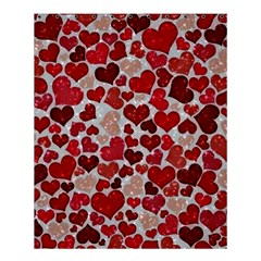 Sparkling Hearts, Red Shower Curtain 60  x 72  (Medium)