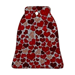 Sparkling Hearts, Red Ornament (Bell)