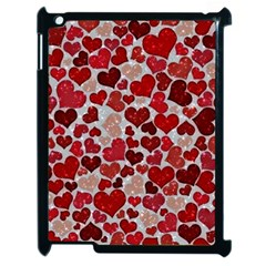 Sparkling Hearts, Red Apple iPad 2 Case (Black)