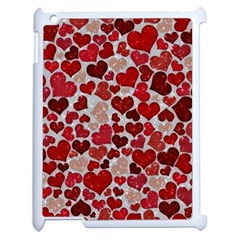 Sparkling Hearts, Red Apple iPad 2 Case (White)