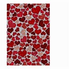 Sparkling Hearts, Red Small Garden Flag (Two Sides)
