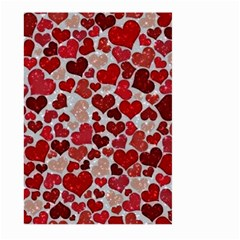 Sparkling Hearts, Red Large Garden Flag (Two Sides)
