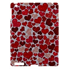 Sparkling Hearts, Red Apple iPad 3/4 Hardshell Case