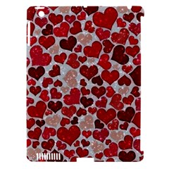 Sparkling Hearts, Red Apple iPad 3/4 Hardshell Case (Compatible with Smart Cover)
