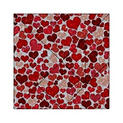 Sparkling Hearts, Red Acrylic Tangram Puzzle (6  x 6 )