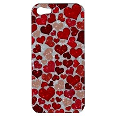 Sparkling Hearts, Red Apple iPhone 5 Hardshell Case