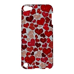 Sparkling Hearts, Red Apple iPod Touch 5 Hardshell Case