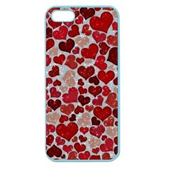 Sparkling Hearts, Red Apple Seamless iPhone 5 Case (Color)