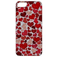 Sparkling Hearts, Red Apple iPhone 5 Classic Hardshell Case