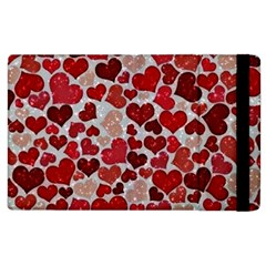 Sparkling Hearts, Red Apple iPad 2 Flip Case