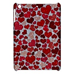 Sparkling Hearts, Red Apple iPad Mini Hardshell Case