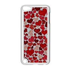 Sparkling Hearts, Red Apple iPod Touch 5 Case (White)