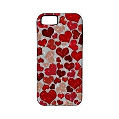 Sparkling Hearts, Red Apple iPhone 5 Classic Hardshell Case (PC+Silicone)