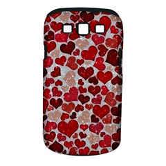 Sparkling Hearts, Red Samsung Galaxy S III Classic Hardshell Case (PC+Silicone)