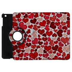 Sparkling Hearts, Red Apple iPad Mini Flip 360 Case