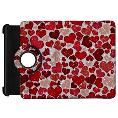 Sparkling Hearts, Red Kindle Fire HD Flip 360 Case