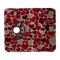 Sparkling Hearts, Red Samsung Galaxy S  III Flip 360 Case