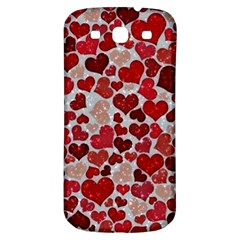 Sparkling Hearts, Red Samsung Galaxy S3 S III Classic Hardshell Back Case