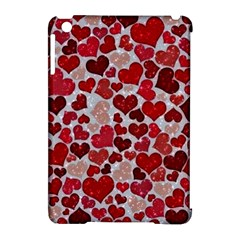 Sparkling Hearts, Red Apple iPad Mini Hardshell Case (Compatible with Smart Cover)