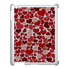 Sparkling Hearts, Red Apple iPad 3/4 Case (White)