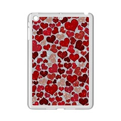 Sparkling Hearts, Red iPad Mini 2 Enamel Coated Cases