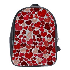 Sparkling Hearts, Red School Bags (XL)