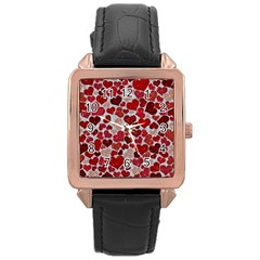 Sparkling Hearts, Red Rose Gold Watches