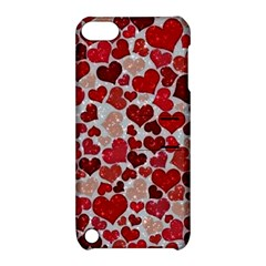 Sparkling Hearts, Red Apple iPod Touch 5 Hardshell Case with Stand