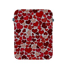 Sparkling Hearts, Red Apple iPad 2/3/4 Protective Soft Cases
