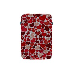 Sparkling Hearts, Red Apple iPad Mini Protective Soft Cases