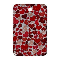 Sparkling Hearts, Red Samsung Galaxy Note 8.0 N5100 Hardshell Case