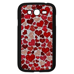Sparkling Hearts, Red Samsung Galaxy Grand DUOS I9082 Case (Black)