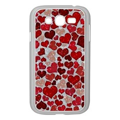 Sparkling Hearts, Red Samsung Galaxy Grand DUOS I9082 Case (White)