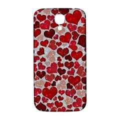 Sparkling Hearts, Red Samsung Galaxy S4 I9500/I9505  Hardshell Back Case